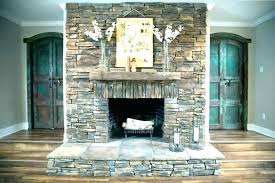 corner fireplace ideas in stone stacked