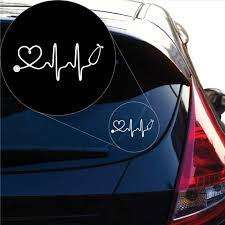 Amazon Com Yoonek Graphics Love Doctor Nurse Decal Sticker For Car Window Laptop And More 1047 3 X 7 1 White Automotive