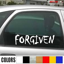 Forgiven Christian Jesus Decal Sticker Car Vinyl Pick Size Color No Bkgrd God Car Stickers Aliexpress