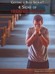 getting a busy signal signs of hindered prayer busy signal