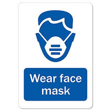 Coronavirus Covid 19 Wear Face Mask Vinyl Decal Protect Your Business Municipality Home Colleagues Made In The Usa Rfsignals