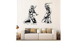 Amazon Com Vinyl Wall Decal Kendo Japan Martial Arts Japanese Stickers Large Decor Ig4083 Dark Red Home Kitchen