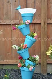 diy garden planter birds bath