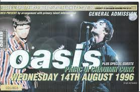 Oasis Live At Pairc Ui Chaoimh Corcaigh Republic Of Ireland August 1996 Don T Stop Living