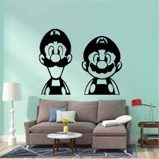 Modern Super Mario Wall Sticker Gamer Pvc Wall Art Wallpaper For Kids Room Decoration Childrens Room Mural Poster Wall Decals For Bedrooms Wall Decals For Cheap From Onlinegame 12 48 Dhgate Com