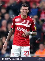 Middlesbrough's Marvin Johnson during the Sky Bet Championship ...