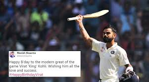 happy birthday virat kohli fans flood twitter wishes and