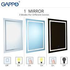 gappo bath mirrors led cosmetic mirror