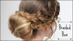 romantic braided bun updo bridal