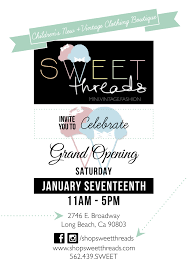 sweet threads grand opening saay