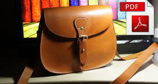 leather bag pattern with tutorial