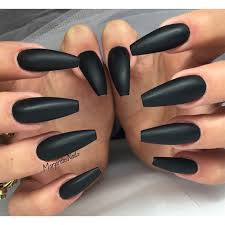 long matte black acrylic nails new