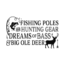Fishing Poles And Hunting Gear V2 Fishing Poles And Hunting Gear Dreams Of Bass And Big Ole Deer Fishing Cabin Lake Wall Decal Cottage Cabin Nursery Woodland Ct4601