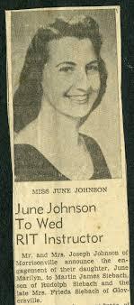 June Johnson Engagement Announcement | RIT Archive Collections