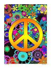 1970s 1960s retro hippie inspired Peace sign black light style poster | Peace sign art, Peace art, Hippie art