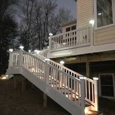 Custom Designed Deck Vinyl Railings Solar Post Caps Stair Lights Contemporary Terrace Baltimore By Miracle Contractors Llc Houzz Uk