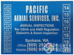 Pacifi Aerial Sticker Signs For Success