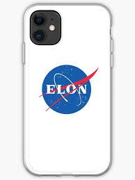 Elon Musk Nasa Phone Case Sticker Iphone Case Cover By Zmakenna Redbubble