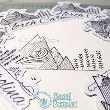 Mountains To The Sea Sticker Coastal Focus Art