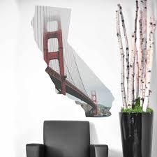 Golden Gate California Wall Decal By Chromantics