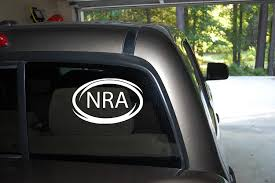 Amazon Com Classy Vinyl Creations Nra Oval Decal National Rifle Association Decals Decal Car Truck Automotive Window White Decal Bumper Sticker 3 5 H X 6 W Home Kitchen