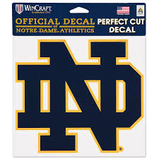 Notre Dame Fighting Irish Wincraft 8 X 8 Color Car Decal