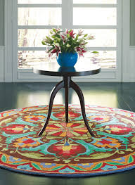 room looks best with round rugs