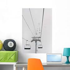 Amazon Com Wallmonkeys A Chairlift At A Ski Resort Wall Decal Peel And Stick Graphic Wm230273 36 In H X 24 In W Home Kitchen