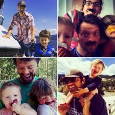 Misha Collins Family Pictures on Instagram   POPSUGAR Celebrity
