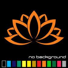 Oracal Lotus Flower Sticker Vinyl Decal Namaste Yoga Plant Car Window Wall Decor Art