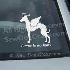 Furever Italian Greyhound Decal Sew Dog Crazy