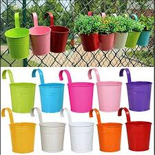 New 10 Pcs Metal Iron Hanging Planters Balcony Garden Plant Pots Bucket Flower Pot Holders For Wall Vase Fence Window Home Decor Flower Pot Holder Iron Hanging Planterhanging Planter Aliexpress