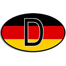 Amazon Com American Vinyl Euro Oval D Deutschland Sticker German Flag Germany Berlin Car Decal Automotive