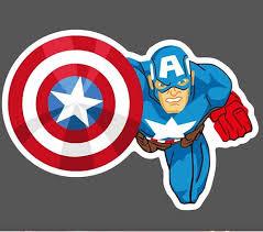 Buy Captain America Vinyl Graffiti Sticker Wholesale Skateboard Laptop Phone Stickers With Cheap Price