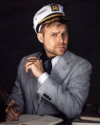 """Adam Conover on Twitter: """"Author photo for my new self-help book:  """"Adamnomics: The Life-Changing Science of Oceanic Psychology."""" Despite what  you have heard, it is NOT a cult. 📸 by @vonswank https://t.co/TX0g25NT6l…"""
