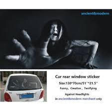 Funny Creative Terrifying 3d Ghost Car Stickers For Car Rear Window Shopee Malaysia
