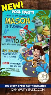Toy Story 4 Birthday Party Invitation Tarjetas De Cumpleanos