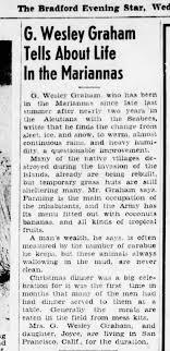 G. Wesley Graham. 3 Jan 1945, Bradford Star. Home from war. - Newspapers.com
