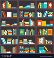 bookshelf seamless background royalty