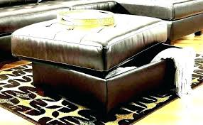 brown faux leather ottoman aquaru info