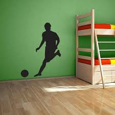Soccer Player Wall Decal Soccer Room Ideas Soccer Room Boys Wall Decals Soccer Bedroom