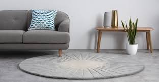 vaserely round wool rug large 200cm