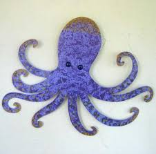 octopus art metal wall decor sculpture