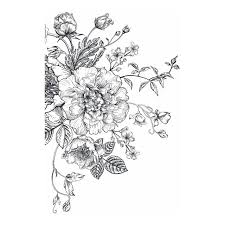 Roommates Black And White Peony Wall Decals