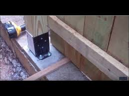 Putting Up A Privacy Fence On Top Of A Retaining Wall Youtube