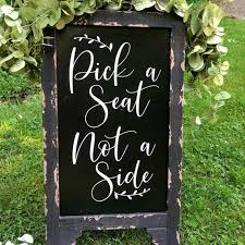 Pick A Seat Stickers Wedding Decal For Chalkboard Wedding Sign Diy D For Engagement Decor Removable Window Decor L834 Wall Stickers Aliexpress