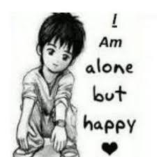 alone but happy on twitter hi im