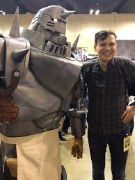 My [self] Alphonse cosplay with Al's voice actor Aaron Dismuke for ...