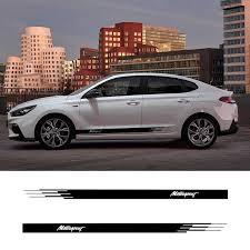 2 Pcs Vinyl Side Stripes Skirt Graphics Auto Stickers Decal For Hyundai I20 I30 I40 Tucson Sonata Ioniq Car Stickers Aliexpress