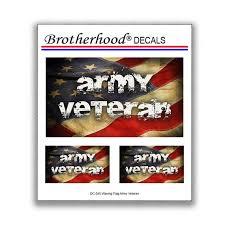Decals United States Army Veteran American Flag Car Window Etsy